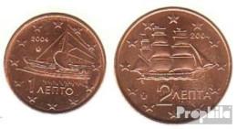 Griechenland GR1 - 2 2004 Stgl./unzirkuliert Stgl./unzirkuliert 2004 Kursmünze 1 Und 2 Cent - Griechenland