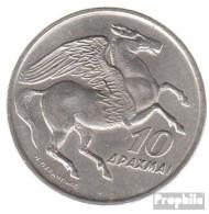Griechenland KM-Nr. : 110 1973 Stgl./unzirkuliert Kupfer-Nickel Stgl./unzirkuliert 1973 10 Drachmen Pegasus - Griechenland
