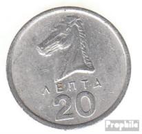 Griechenland KM-Nr. : 114 1978 Vorzüglich Aluminium Vorzüglich 1978 20 Lepta Hengst - Griechenland