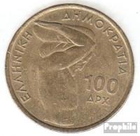 Griechenland KM-Nr. : 174 1999 Vorzüglich Aluminium-Bronze Vorzüglich 1999 100 Drachmen Gewichtheben - Griechenland