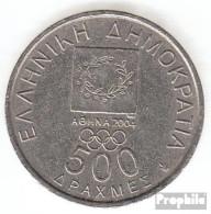 Griechenland KM-Nr. : 178 2000 Vorzüglich Kupfer-Nickel Vorzüglich 2000 500 Drachmen Vicelas Und Coubertin - Griechenland
