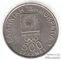 Griechenland KM-Nr. : 179 2000 Vorzüglich Kupfer-Nickel Vorzüglich 2000 500 Drachmen Spyros Louis - Griechenland