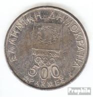 Griechenland KM-Nr. : 180 2000 Vorzüglich Kupfer-Nickel Vorzüglich 2000 500 Drachmen Goldmedaille - Griechenland