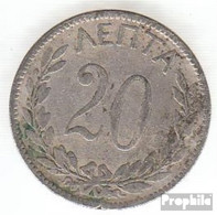 Griechenland KM-Nr. : 57 1894 Sehr Schön Kupfer-Nickel Sehr Schön 1894 20 Lepta Krone - Griechenland