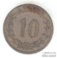 Griechenland KM-Nr. : 59 1895 Sehr Schön Kupfer-Nickel Sehr Schön 1895 10 Lepta Krone - Griechenland