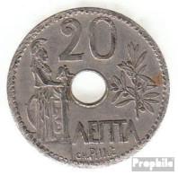 Griechenland KM-Nr. : 64 1912 Sehr Schön Nickel Sehr Schön 1912 20 Lepta Krone - Griechenland