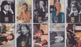 Lot De 50 Télécartes à Puce France / 10 X STARS CINEMA MOVIE STARS - Chip Phonecards From France - 05 - Tarjetas Telefónicas