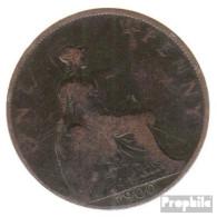 Großbritannien KM-Nr. : 790 1899 Sehr Schön Bronze Sehr Schön 1899 1 Penny Victoria - D. 1 Penny