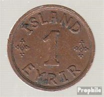 Island KM-Nr. : 5 1931 Stgl./unzirkuliert Bronze Stgl./unzirkuliert 1931 1 Eyrir Gekröntes Monogramm - Island