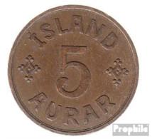 Island KM-Nr. : 7 1931 Sehr Schön Bronze Sehr Schön 1931 5 Aurar Gekröntes Monogramm - Island