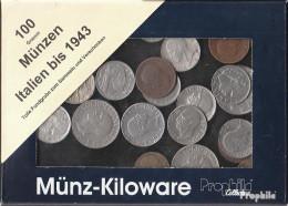 Italien 100 Gramm Münzkiloware  Bis 1943 - Kiloware - Münzen