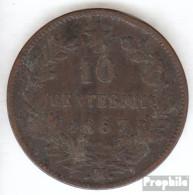 Italien KM-Nr. : 11 1867 OM Schön Kupfer Schön 1867 10 Centesimi Vittorio Emanuele II. - 1861-1946: Königreich