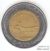 Italien KM-Nr. : 111 1989 Vorzüglich Bimetall Vorzüglich 1989 500 Lire Platz - 1946-…: Republik