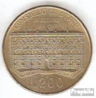 Italien KM-Nr. : 135 1990 Vorzüglich Aluminium-Bronze Vorzüglich 1990 200 Lire Parlament - 1946-…: Republik