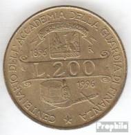 Italien KM-Nr. : 184 1996 Vorzüglich Aluminium-Bronze Vorzüglich 1996 200 Lire Akademie - 1946-…: Republik