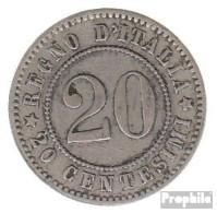 Italien KM-Nr. : 28 1894 KB Sehr Schön Kupfer-Nickel Sehr Schön 1894 20 Centesimi Krone - 1861-1946: Königreich