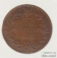 Italien KM-Nr. : 3 1862 N Sehr Schön Kupfer Sehr Schön 1862 5 Centesimi Vittorio Emanuele II. - 1861-1946: Königreich