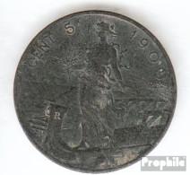 Italien KM-Nr. : 42 1918 Sehr Schön Bronze Sehr Schön 1918 5 Centesimi Vittorio Emanuele III. - 1900-1946 : Victor Emmanuel III & Umberto II