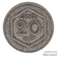 Italien KM-Nr. : 58 1920 Sehr Schön Kupfer-Nickel Sehr Schön 1920 20 Centesimi Wappen, Überprägung De - 1861-1946: Königreich