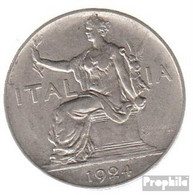 Italien KM-Nr. : 62 1923 Sehr Schön Nickel Sehr Schön 1923 1 Lira Sitzende Frau - 1861-1946: Königreich
