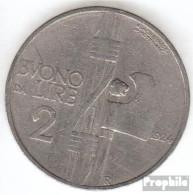 Italien KM-Nr. : 63 1925 Sehr Schön Nickel Sehr Schön 1925 2 Lire Vittorio Emanuele III. - 1861-1946: Königreich