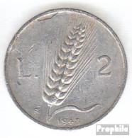 Italien KM-Nr. : 88 1949 Sehr Schön Aluminium Sehr Schön 1949 2 Lire Pflüger - 1946-…: Republik
