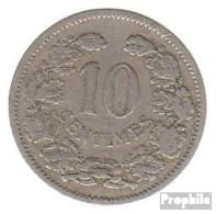 Luxemburg KM-Nr. : 25 1901 Sehr Schön Kupfer-Nickel Sehr Schön 1901 10 Centimes Adolphe - Luxemburg