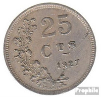 Luxemburg KM-Nr. : 37 1927 Vorzüglich Kupfer-Nickel Vorzüglich 1927 25 Centimes Wappen - Luxemburg