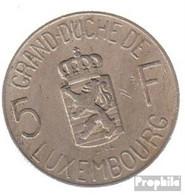 Luxemburg KM-Nr. : 51 1962 Vorzüglich Kupfer-Nickel Vorzüglich 1962 5 Francs Charlotte - Luxembourg