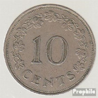 Malta KM-Nr. : 11 1972 Vorzüglich Kupfer-Nickel Vorzüglich 1972 10 Cent Barke - Malta