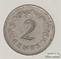 Malta KM-Nr. : 9 1977 Sehr Schön Kupfer-Nickel Sehr Schön 1977 2 Cent Penthesilea - Malte