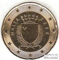 Malta M 5 2008 Stgl./unzirkuliert Stgl./unzirkuliert 2008 20 Cent Kursmünze - Malta