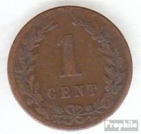 Niederlande KM-Nr. : 107 1901 Sehr Schön Bronze Sehr Schön 1901 1 Cent Gekrönter Löwe - [ 3] 1815-… : Kingdom Of The Netherlands