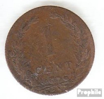 Niederlande KM-Nr. : 132 1902 Sehr Schön Bronze Sehr Schön 1902 1 Cent Gekrönter Löwe - [ 3] 1815-… : Kingdom Of The Netherlands