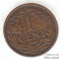 Niederlande KM-Nr. : 152 1921 Sehr Schön Bronze Sehr Schön 1921 1 Cent Gekrönter Löwe - [ 3] 1815-… : Kingdom Of The Netherlands