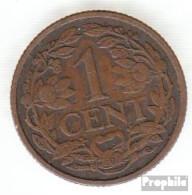 Niederlande KM-Nr. : 152 1929 Sehr Schön Bronze Sehr Schön 1929 1 Cent Gekrönter Löwe - [ 3] 1815-… : Kingdom Of The Netherlands