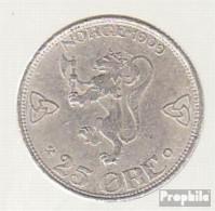 Norwegen KM-Nr. : 373 1914 Sehr Schön Silber Sehr Schön 1914 25 Öre Gekrönte Monogramme - Norwegen