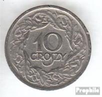 Polen KM-Nr. : 11 1923 Vorzüglich Nickel Vorzüglich 1923 10 Groszy Gekrönter Adler - Polen