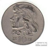 Polen KM-Nr. : 50 1970 Sehr Schön Kupfer-Nickel Sehr Schön 1970 10 Zlotych Adler - Polen