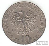 Polen KM-Nr. : 51 1969 Sehr Schön Kupfer-Nickel Sehr Schön 1969 10 Zlotych Kopernikus - Polen