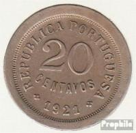 Portugal KM-Nr. : 571 1921 Stgl./unzirkuliert Kupfer-Nickel Stgl./unzirkuliert 1921 20 Centavos Liberty - Portugal