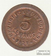 Portugal KM-Nr. : 572 1924 Sehr Schön Bronze Sehr Schön 1924 5 Centavos Liberty - Portugal