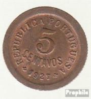 Portugal KM-Nr. : 572 1927 Sehr Schön Bronze Sehr Schön 1927 5 Centavos Liberty - Portugal