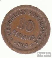 Portugal KM-Nr. : 573 1924 Sehr Schön Bronze Sehr Schön 1924 10 Centavos Liberty - Portugal