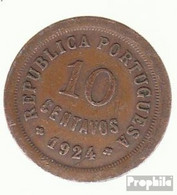 Portugal KM-Nr. : 573 1926 Sehr Schön Bronze Sehr Schön 1926 10 Centavos Liberty - Portugal