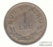Rumänien KM-Nr. : 46 1924 (b) Sehr Schön Kupfer-Nickel Sehr Schön 1924 1 Leu Gekröntes Wappen - Rumänien