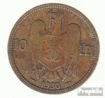 Rumänien KM-Nr. : 49 1930 Typ A Sehr Schön Nickel-Messing Sehr Schön 1930 10 Lei Carol II. - Rumänien