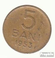 Rumänien KM-Nr. : 83 1954 Sehr Schön Kupfer-Nickel-Zink Sehr Schön 1954 5 Bani Wappen - Rumänien