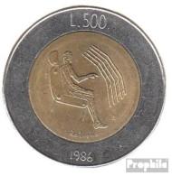 San Marino KM-Nr. : 195 1986 Stgl./unzirkuliert Bimetall Stgl./unzirkuliert 1986 500 Lire Technologie - San Marino