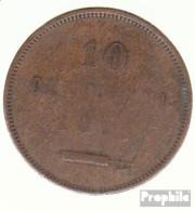 San Marino KM-Nr. : 2 1875 Schön Kupfer Schön 1875 10 Centesimi Wappen - San Marino